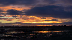 Langstone Harbour Winter Sunset (fstop186) Tags: langstone harbour sunset winter orange gold goldenhour sky clouds water sea reflections solent dark menace brooding