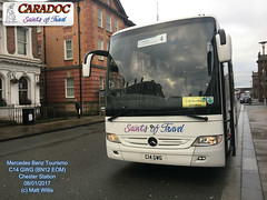 CARADOC COACHES MERCEDES BENZ TOURISMO C14 GWG BN12 EOM CHESTER STATION 08012017 (MATT WILLIS VIDEO PRODUCTIONS) Tags: caradoc coaches mercedes benz tourismo c14 gwg bn12 eom chester station 08012017