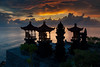 Balinese Hindu Shrines at Sunrise (EdBob) Tags: bali balinese eastbali hindu hinduism shrines statuary sunrise silhouette silhouetted alter clouds sky dawn morning red indianocean lombok strait outdoors nature religion religious ocean water colorful color tropical paradise indonesia indonesiantravel indonesian asia asiatravel edmundlowephotography edmundlowe allmyphotographsare©copyrightedandallrightsreservednoneofthesephotosmaybereproducedandorusedinanyformofpublicationprintortheinternetwithoutmywrittenpermission