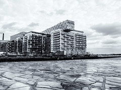 Harbourfront-Ice-and-Condo (AroundMyTown) Tags: toronto harbourfront ice winter monochrome blackandwhite