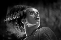 1935 ...  Elsa Lanchester as 'Bride of Frankenstein' (x-ray delta one) Tags: jamesvaughanphotography populuxe retro americana nostalgia atomic vintage scifi tomorrowland space outerspace nasa illustration aerospace astronaut worldoftomorrow spaceexploration thefuture spacerace cosmonaut 1950s 1960s 1940s spacestation rocketship warpdrive aliens spaceship sciencefiction sf