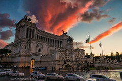 Altare Della Patria (Rob's4tography) Tags: italy rome sunset monument culture tourism history settingsun
