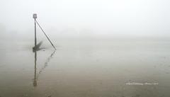 The Fog (Rick Hathaway - rhfo2o (413k views!)) Tags: rhfo2o canon canoneos7d elmer elmersands bognorregis bognor westsussex beach sand groynemarker groyne reflection fog mist minimal middletoncameraclub 19