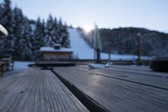 Hüttengaudi Nassfeld - Austria (slashed22) Tags: holz piste schnee winter hütte tisch makro schärfe unschärfe nachmittag