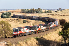 2017-01-22 SCT SCT004-SCT007-SCT006 Cullerin 7MB9 (deanoj305) Tags: cullerin newsouthwales australia au sct logistics 7mb9 intermodal freight locomotive train sct004 sct007 sct006 razorback siding main south line nsw specialised container transport