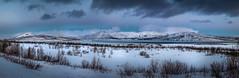Polar twilight at Lake Torneträsk (Steven-ch) Tags: winter e10 sweden canon clouds eos5dmarkiv lapland artic norrbotten twilight abiskonationalpark travel snow torneträsk europe lake mountain norrbottenslän se