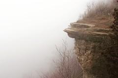 Foggy day (katharinabeniers) Tags: fog ontario canada hike dslr canon rocks