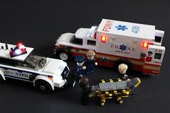 FDNY Ambulance (sponki25) Tags: fdny ford f450 ambulance nyc newyork fire department feuerwehr fahrzeug truck lego stryker stretcher fahrtrage nypd police explorer