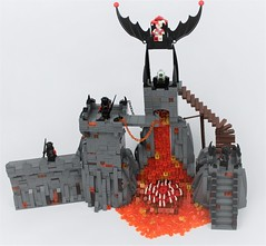 TTR3: Jestro's Volcano Lair redux (Michael the juggler) Tags: volcano fire lava rock stone burning beast teeth jestro lego lair evil