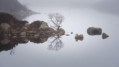 Calm of the Loch (evorichie101) Tags: calm refelction loch scotland glencoe nikon long lens zoom landscape mist still symmetry