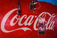 Coca Cola, plus one - Sonepur, India (Christian Clowes) Tags: india in bihar hajipur hindu hinduism asia religion nikon d500 street streetphotography christianclowes cocacola mirror reflection woman red blue sonepur sonepurmela