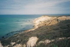 764277T-R1-005-1 (aspininaspiritcar) Tags: ocean sea summer sky film beach field ferry 35mm boat marthas vineyard sand rocks minolta massachusetts atlantic marthasvineyard