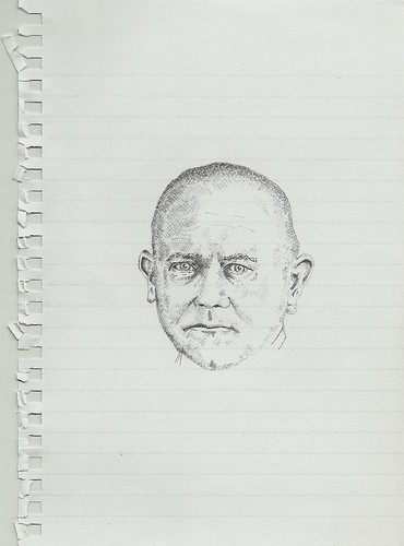 Zavier Ellis 'Mad Nazi Priest Drawing # 1', 2014 Pencil on paper 21x14.8cm