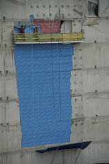 Waterfall (picturenarrative) Tags: blue red toronto canada concrete construction patchwork