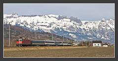 Re4/4 11159 bei Sevelen, 14.03.2009 (kuknauf) Tags: sevelen schweiz rail railroad bahn train vlak spoorwegen railway treno trein  re44 sbb cff ffs schweizerbundesbahnen