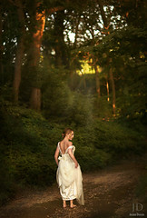 Follow the Light ({jessica drossin}) Tags: road trees light portrait woman white lost bride alone dress forrest bokeh path rays jessicadrossin wwwjessicadrossincom