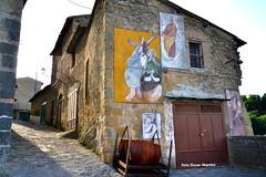 Grotte di Castro ed un murales a ricordo della festa della Madonna del Suffragio. (oscar.martini_51) Tags: castro di viterbo grotte bolsena vicoli tuscia