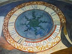 Clock Fresco (Lydie's) Tags: clock painting ancient croatia fresco dubrovnik circular romannumerals scrolls