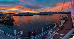Canada Place Sunset Panorama (picxpressions) Tags: coalharbor vancouvertrip