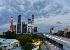 Moscow-City (rzrs) Tags: city cloud architecture skyscrapers moscow canon1740 mibc sirui