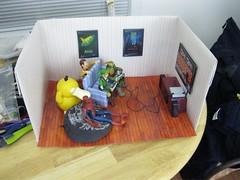Game Time BTS (RandomWatts) Tags: toys action spiderman woody pokemon behind michelangelo figures scenes diorama tmnt psyduck revoltech goodsmile