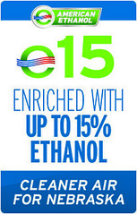 E15- a blend of 15% American Ethanol