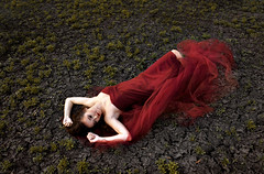 Passion (MKStallings Photography) Tags: red love girl beauty photoshop photography hurt dress young surreal betrayal conceptual defeat cracked filed longing