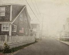 Scituate (SLEEC Photos/Suzanne) Tags: streetscene cottages fog americana textured massachusetts