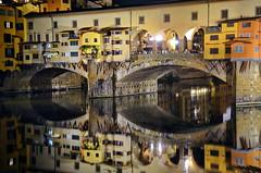 Firenze, Ponte Vecchio (gerard eder) Tags: architecture architektur arquitectura world travel reise viajes reflections spiegelung italy italien italia toscana tuscany firenze florence florenz pontevecchio wasser water arno fiumearno arnoriver nikon