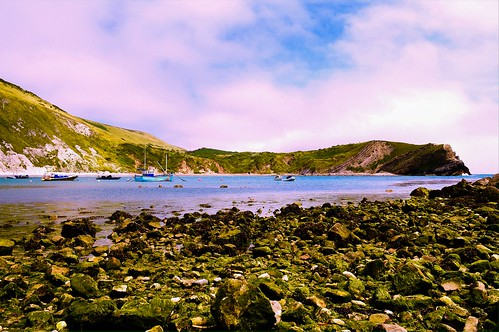 Boats in Lulworth Cove