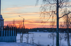 Sunset bicycling on ice (TimoOK) Tags: vaasa finland suomi lumi snow winter talvi meri sea
