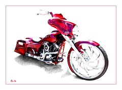 dragon.... (Stu Bo) Tags: artisticexpression alltypesoftransport sbimageworks smooth motorcycle custombike kustom kool killer ride rebel reflections artwork greatpaint beautiful bestofshow wheels warrior chromeisking photoshop