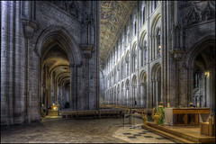 Ely Cathedral 7 (Darwinsgift) Tags: ely cathederal cambridgeshire hdr nikkor 24mm pce f35 tilt shift interior nikon d810 architecture norman gothic cathedral