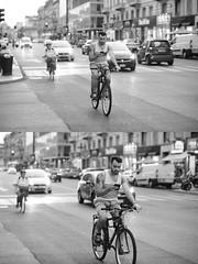 [La Mia Città][Pedala] al telefono (Urca) Tags: milano italia 2016 bicicletta pedalare ciclista ritrattostradale portrait dittico bike bicycle nikondigitale mirò biancoenero blackandwhite bn bw 91885 telefono