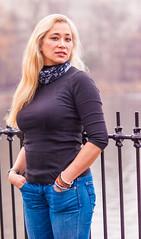 L at the Central Park Reservoir (Ed Newman) Tags: beautifulwomannikond700 centralpark newyorkcity nikkor135mm portrait