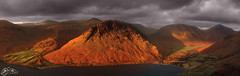 Yewbarrow from Illgill Head (►►M J Turner Photography ◄◄) Tags: wastwater wasdale illgillhead lakedistrict cumbria england sunset hill mountain fell lake greatgable kirkfell yewbarrow