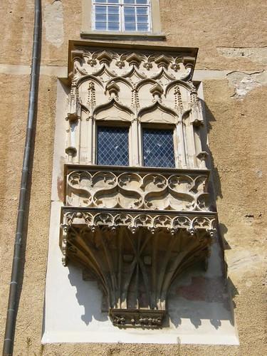 Siklós, a Vár gótikus zárterkélye