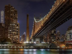 Queensboro Bridge from Queens (karinavera) Tags: travel sonya7r2 queens bridge queensboro architecture longexposure newyork night urban city
