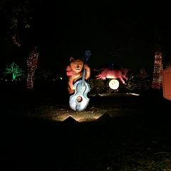 "Austin: Trail of Lights - Mother Goose Rhymes - ""Hey Diddle Diddle"" (escriteur) Tags: img6088 texas austin zilker zilkerpark trailoflights display displays nurseryrhyme mothergoose heydiddlediddle cat fiddle cow moon"