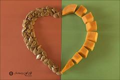 Proyecto 14/365 (Art.Mary) Tags: coeur corazón heart bodegón stilllife naturemorte calabaza semillas pumpkin citrouille canon proyecto365 colores colours couleurs