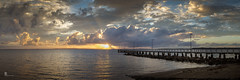 Morning light at the jetty (pbaddz) Tags: wellingtonpoint sunrise water queensland dawn moretonbay jetty australia redlands clouds