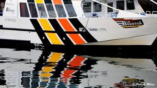 Reflection colored boat - Brestoa -