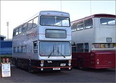 Preserved Mk2 MCW Metrobus 8110 (2970 from 1987) A110 WVP (paulburr73) Tags: 8110 a110wvp 2970 coventry mk2metrobus mcw metrocammellweymann newin1984 hockley millerstreet heritage preserved butts midlands wmpte wmt westmidlandstravel tracline65 travelcoventry birmingham wt hy 2017 january runningday transportfair guidedbus 135 135y daimler fleetline pdu135m eastlancs eastlancashire coventrytransport rugbyclub gr1331 sponend