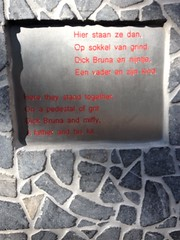 Dick Bruna Nijntje (indigo_jones) Tags: dickbruna nijntje miffy mariaplaats statue beeld utrecht kunst artist creator rabbit nederland netherlands holland dutch author