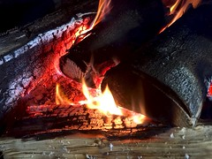 A good fire 11:365 JF (♔ Georgie R) Tags: fire thecherrytree faygate sussex pub