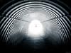 Light at the End of the Tunnel (Sebastian Bayer) Tags: mft winter gefühle tunnel person bramberg fluchtlinien blickführung tiefe perspektive abstrakt olympus urlaub unterführung mensch omd teiltonung minimalistisch österreich omdem5ii micro43 dorf salzburg at