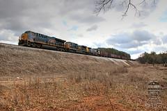 CSX W086-31 (Steve Hardin) Tags: et44ah c408w ac4400cw monon csx wa westernatlantic railroad railway railfan herzog ballast gravel hoppercar emerson ga georgia