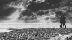 Stormy Days (R*Wozniak) Tags: blackwhite bw blackandwhite lakemichigan people pov clouds water a6000 exposure sky silhouette weather