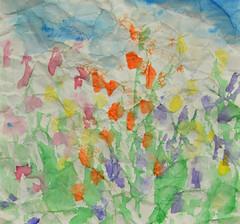 English Garden  ~ EXPLORE!! Thank You! (BKHagar *Kim*) Tags: flowers art garden watercolor artwork impressionist englishgarden bkhagar