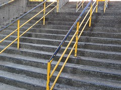 Yellow Railing (hansntareen) Tags: yellow stairs concrete steps railing